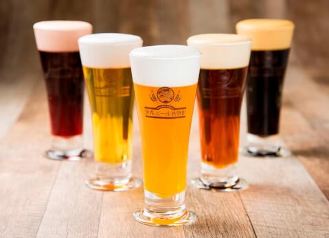 名古屋 ビール 居酒屋 名駅 大名古屋ビルヂング 世界のビール博物館 世界の樽生ビール5種飲み比べセット