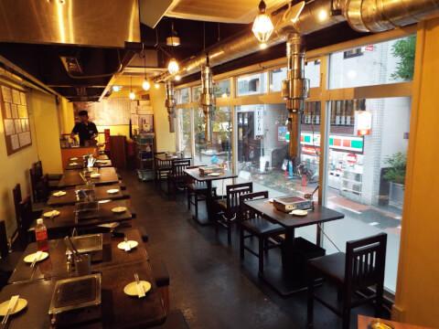 東京 上野 焼肉 房家 2階