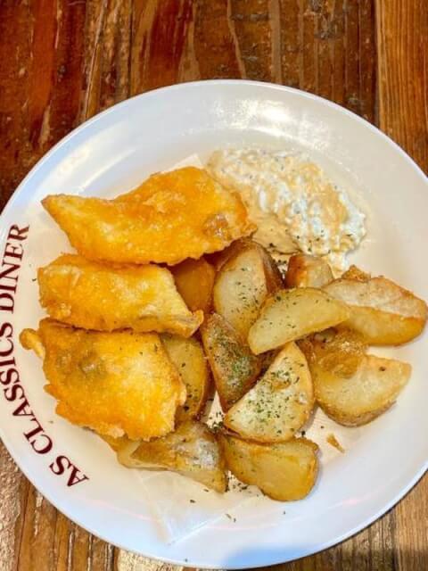 フィッシュ&チップス エーエス クラシックス ダイナー ROPPONGI  六本木 ランチ おすすめ ハンバーガー 洋食