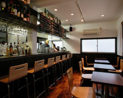 田町 居酒屋 ビストロ&スペイン古民家バル chab カウンター テーブル席 おしゃれ