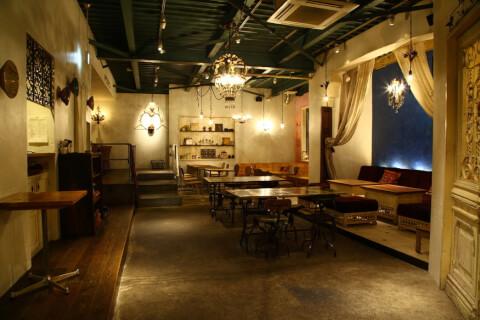 目黒 カフェ チャムアパートメント 店内