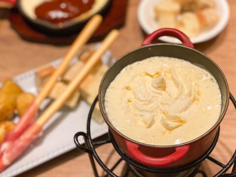 池袋カフェ cheesecraftworks 天使のふわふわチーズフォンデュ