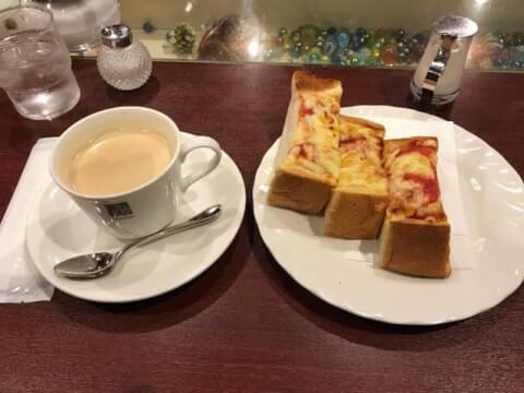 チーズトーストセット 喫茶サンシャイン 梅田 東通り お初天神 おすすめ モーニング
