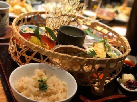 和食やちそう ランチ 篭盛り御膳