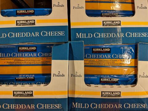 KIRKLAND マイルドチェダーチーズ 907g