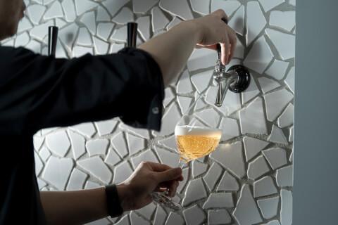 恵比寿 居酒屋 cozakura de oden 内観 ビールタップ ビール