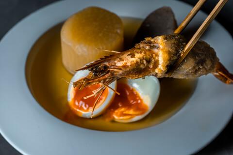 恵比寿 ディナー 和食 Cozakura de Oden 海老蓮根