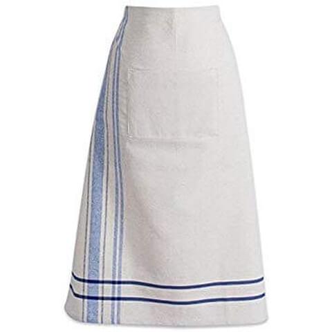 DII Cotton French Stripe Bistro Half Waist Apron