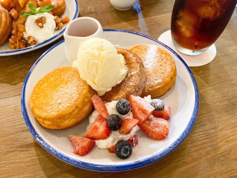 池袋カフェ ジオラマカフェ いちごパンケーキ