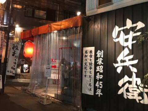 恵比寿 居酒屋 西口 えびすの安兵衛 外観 中華 安い 人気 一人