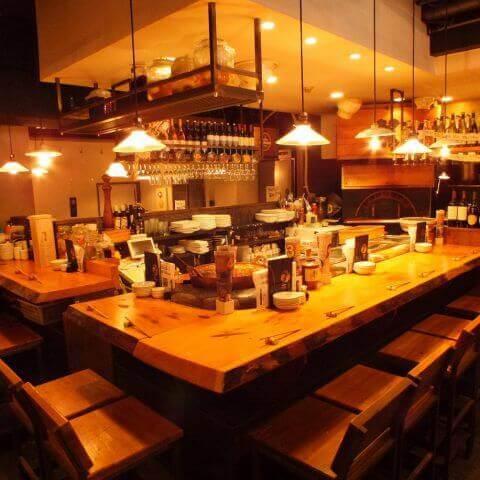 恵比寿 居酒屋 ゑびす堂 おしゃれなカウンター