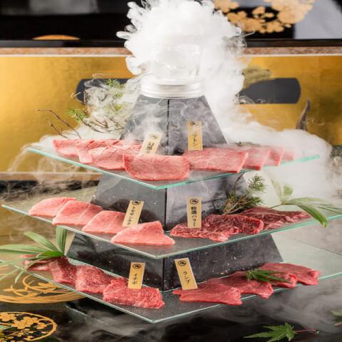 渋谷 焼肉 富士門 富士山頂盛り インスタ映え フォトジェニック