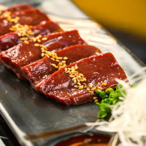 渋谷 焼肉 富士門 和牛炙りレバー