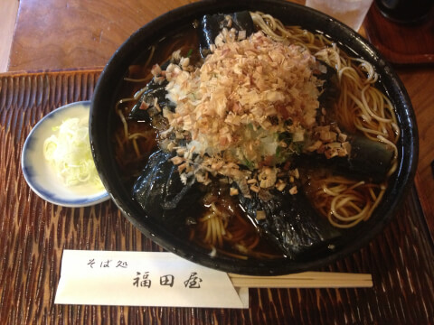 渋谷_ランチ_福田屋_冷やしなす蕎麦