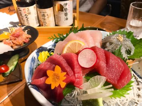 刺し盛り 吟醸マグロ 金山駅 北口 居酒屋 おすすめ 日本酒 海鮮 魚介