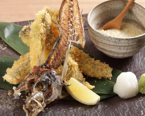 魚義 アジフライ