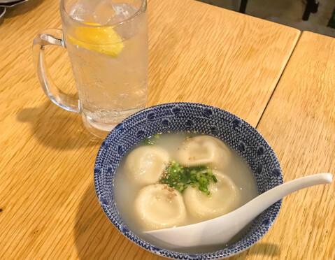 渋谷 居酒屋  餃子研究所 水餃子