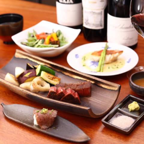 新橋でディナーにおすすめの肉が美味しいお店、記念日デートや女子会にも人気のhanasaki