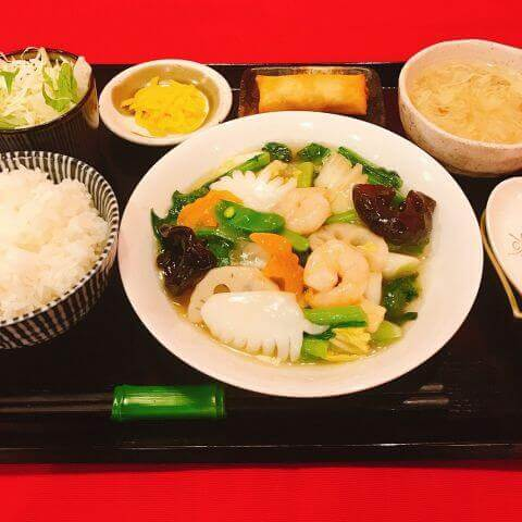 chinese restaurant 華や 江坂店 おすすめ ランチ 中華