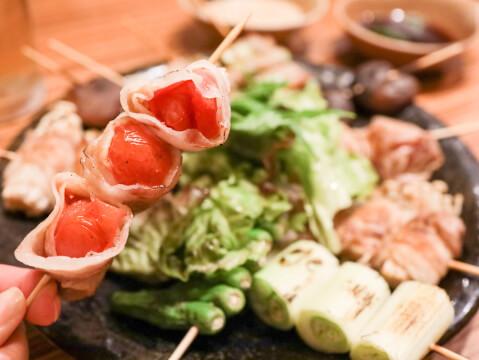 上野 居酒屋 ごちそうさん 野菜巻き串