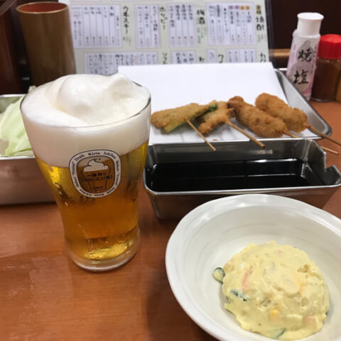 串萬_京橋_居酒屋_串カツ_安い