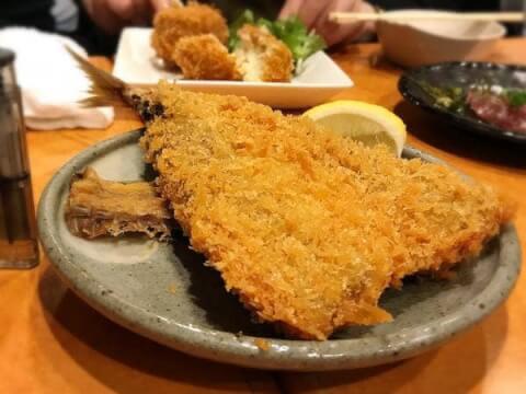 飯田橋 安い 居酒屋 おすすめ 魚竹 アジフライ