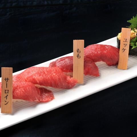 肉寿司の写真