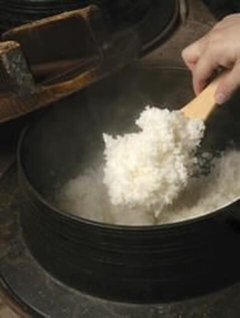 炊き立てご飯の写真