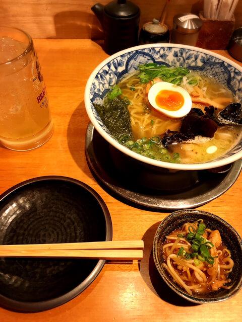 恵比寿 おすすめ ラーメン 麺酒場 框 海出汁魚介バター麺