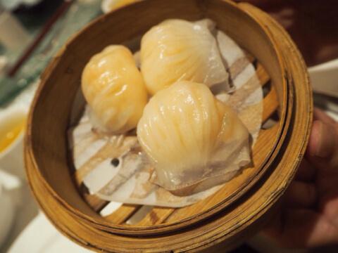 おすすめの広東料理、エビの蒸し餃子