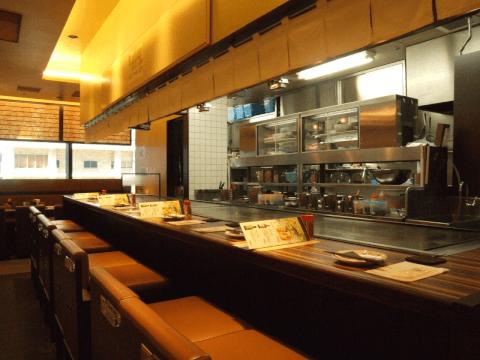 品川 ディナー お好み焼き きじ 店内