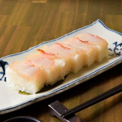 金目鯛の押し寿司 金目鯛専門居酒屋 鯛しゃぶ ぞんぶん 新宿三丁目 おすすめ 居酒屋 美味しい 海鮮 魚介