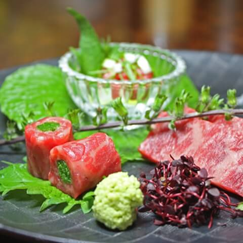 浜松町 ディナー 鉄板焼き koso 黒毛和牛 生肉
