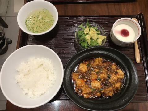 心斎橋 中華旬彩 森本 麻婆豆腐ランチ
