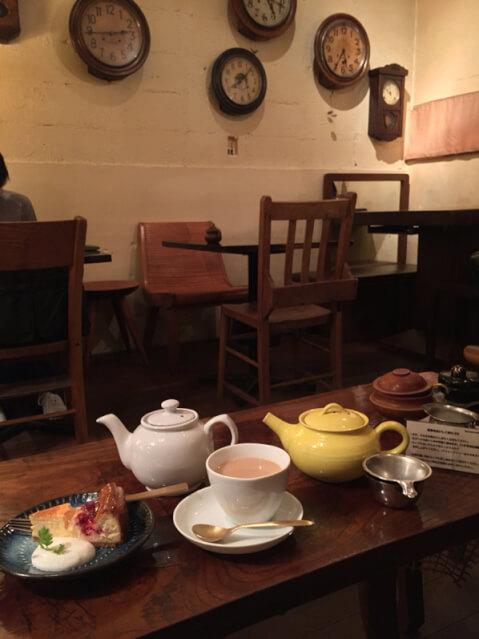 三宮 カフェ tea room mahisa 店内