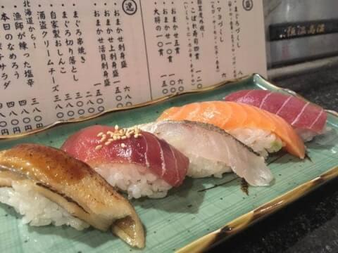 野毛 居酒屋 まんぼう 立ち食い寿司