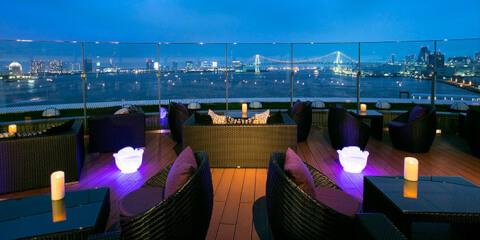 浜松町 ディナー フレンチ インターコンチネンタル東京ベイ マンハッタン 店内 テラス席