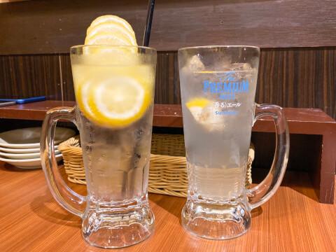 新宿 居酒屋 ミライザカ 凍らせレモンサワー