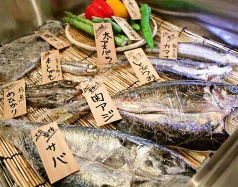 名古屋 居酒屋 栄 矢場町  海の日 干物