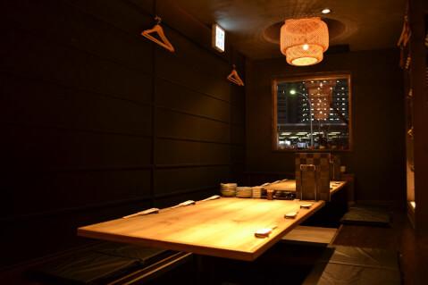 名古屋 居酒屋 名駅  日本酒 天ぷら 天と鮮 なごやみせ 個室