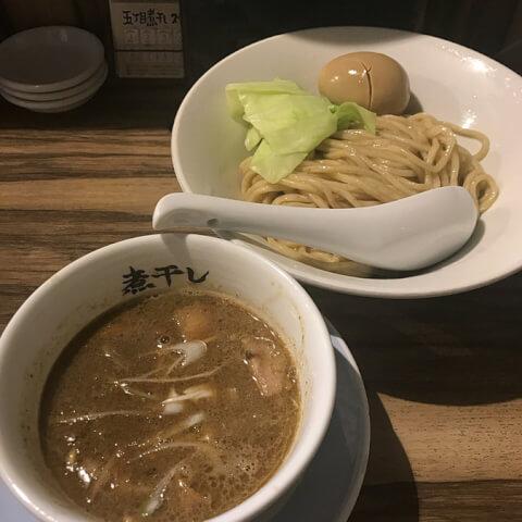 中野 ラーメン 五丁目煮干し  白こってりつけ麺