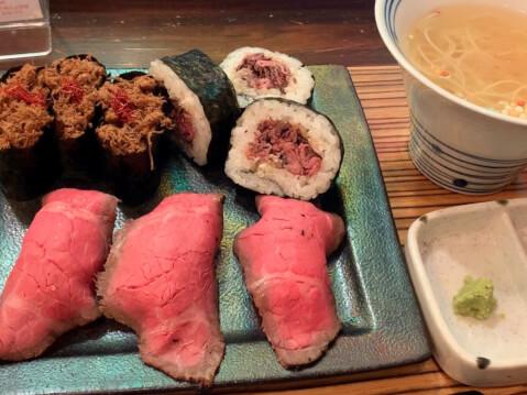 佰食屋肉寿司専科-肉寿司定食