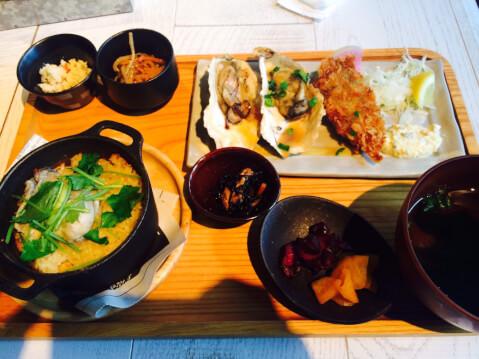 新宿 ランチ oysterbar wharf 一汁五菜