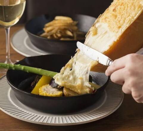 横浜 イタリアン RUBAN ラクレットチーズ