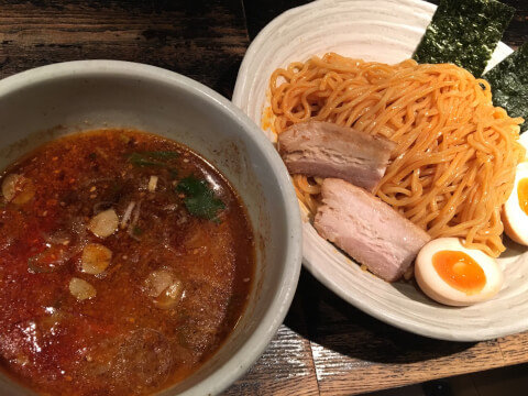 らーめん山頭火 渋谷店 赤辛つけ麺