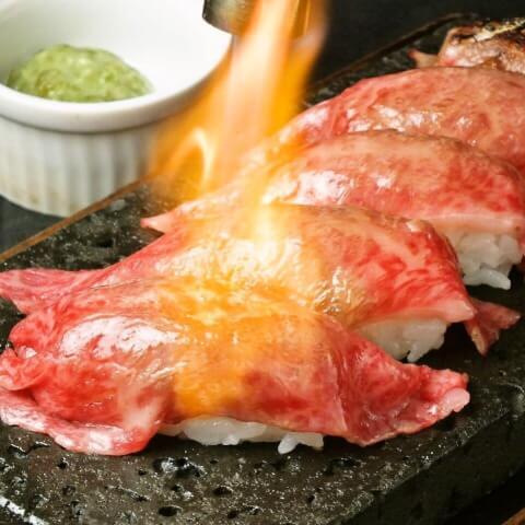 渋谷 焼肉 溶岩焼肉 bonbori 和牛焼寿司