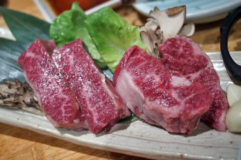 渋谷  焼肉 三百屋 厚切りハラミ