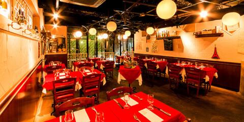渋谷 ディナー レストラン フレンチ ビストログルマン テーブル席