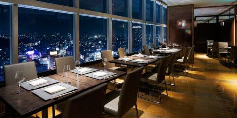 渋谷 ディナー 和食 日本料理 旬彩 店内 夜景