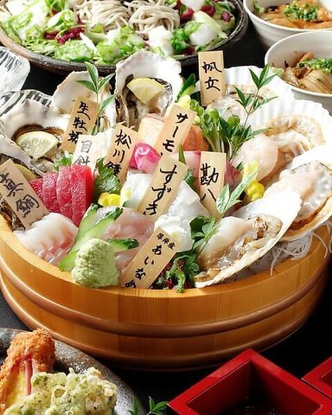 新宿 個室 居酒屋 丸港水産 コース料理